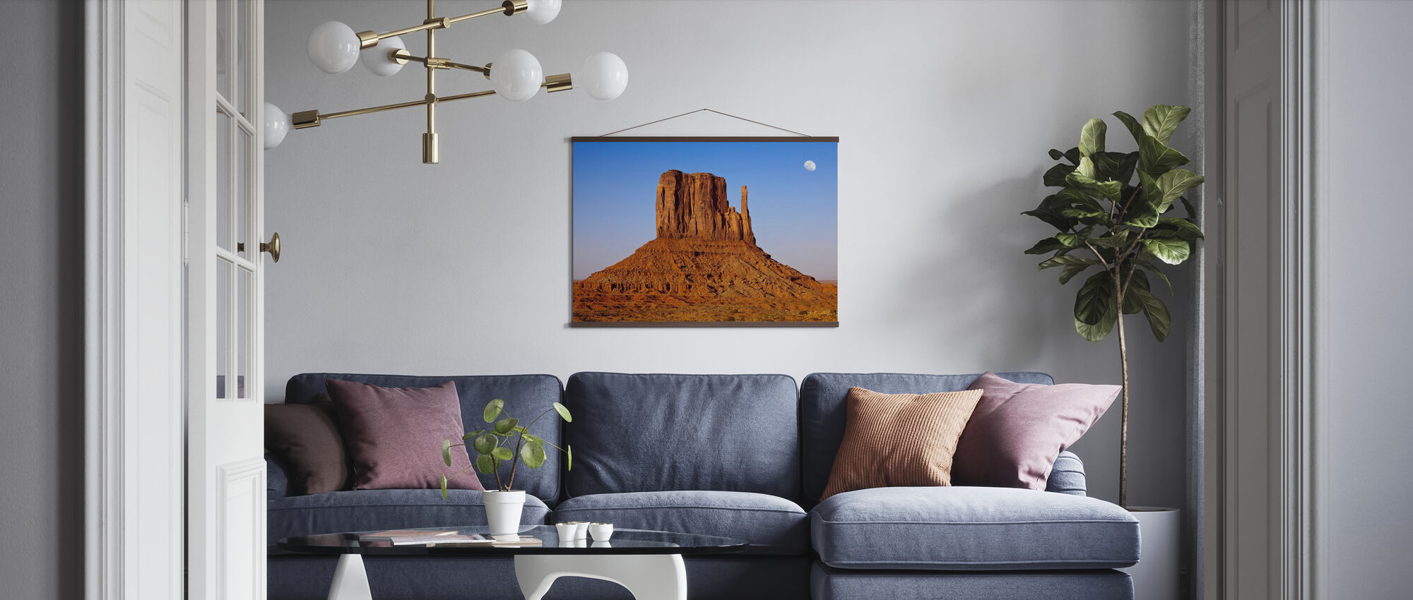 Monument Valley at Sunset - Poster - Living Room