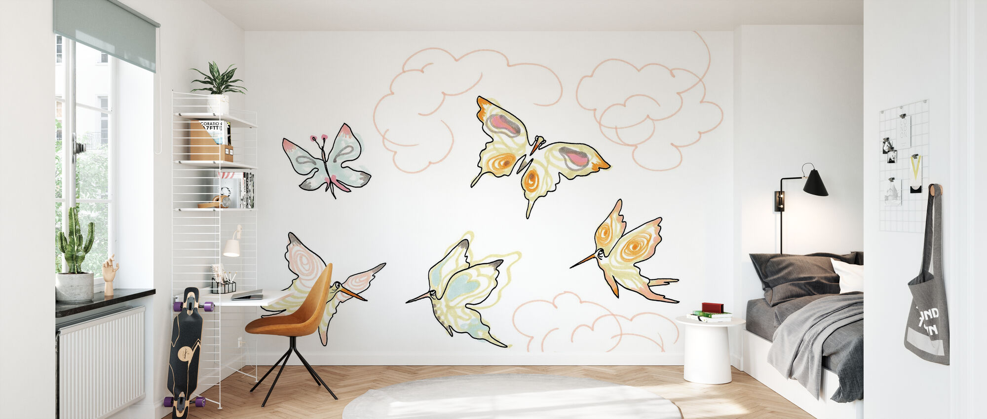 Whose Butterfly 2 - Wallpaper - Kids Room