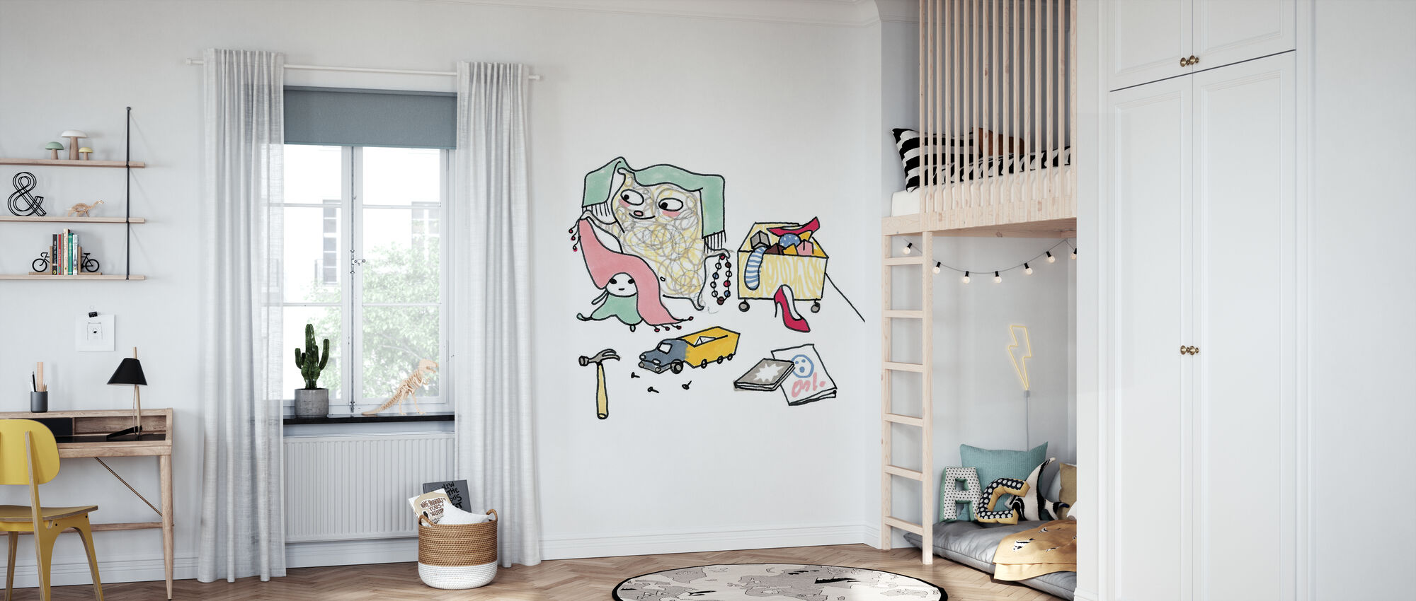 Whose toys - Wallpaper - Kids Room