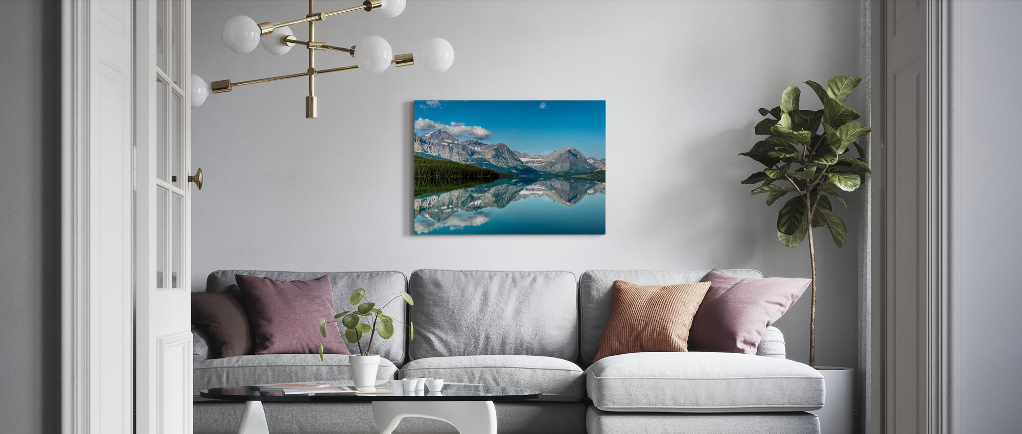 Reflection - Canvas print - Living Room