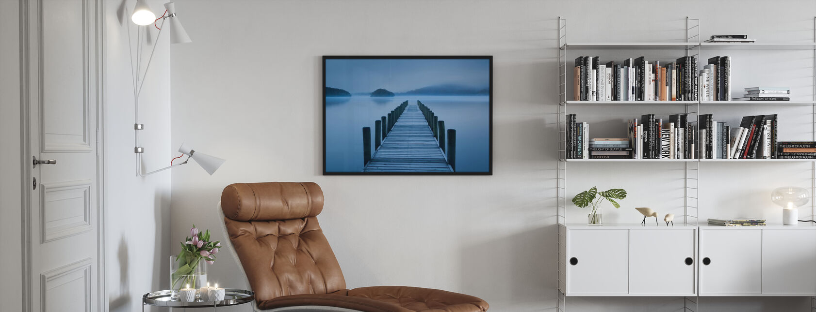 Blue Hour at the Lake - Poster - Living Room