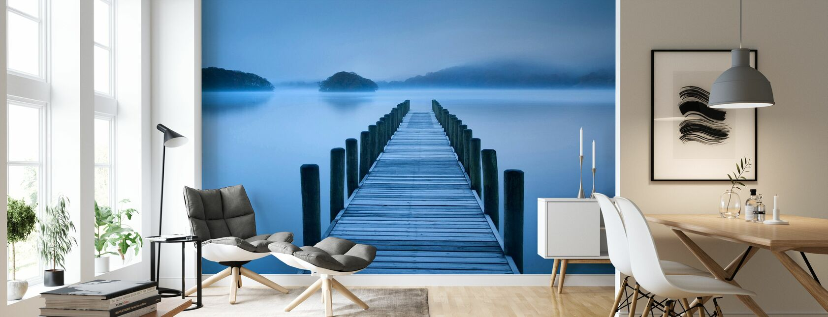 Blue Hour at the Lake - Wallpaper - Living Room
