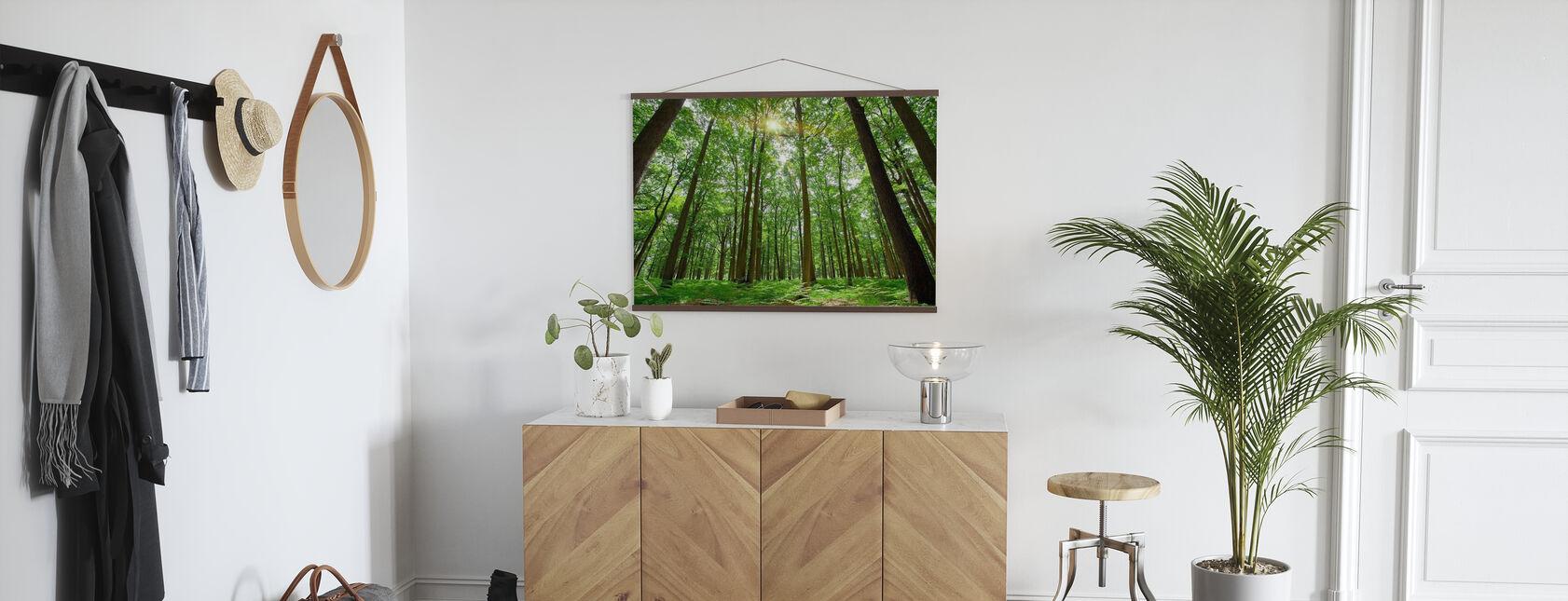 Emerald Green Forest - Poster - Hallway