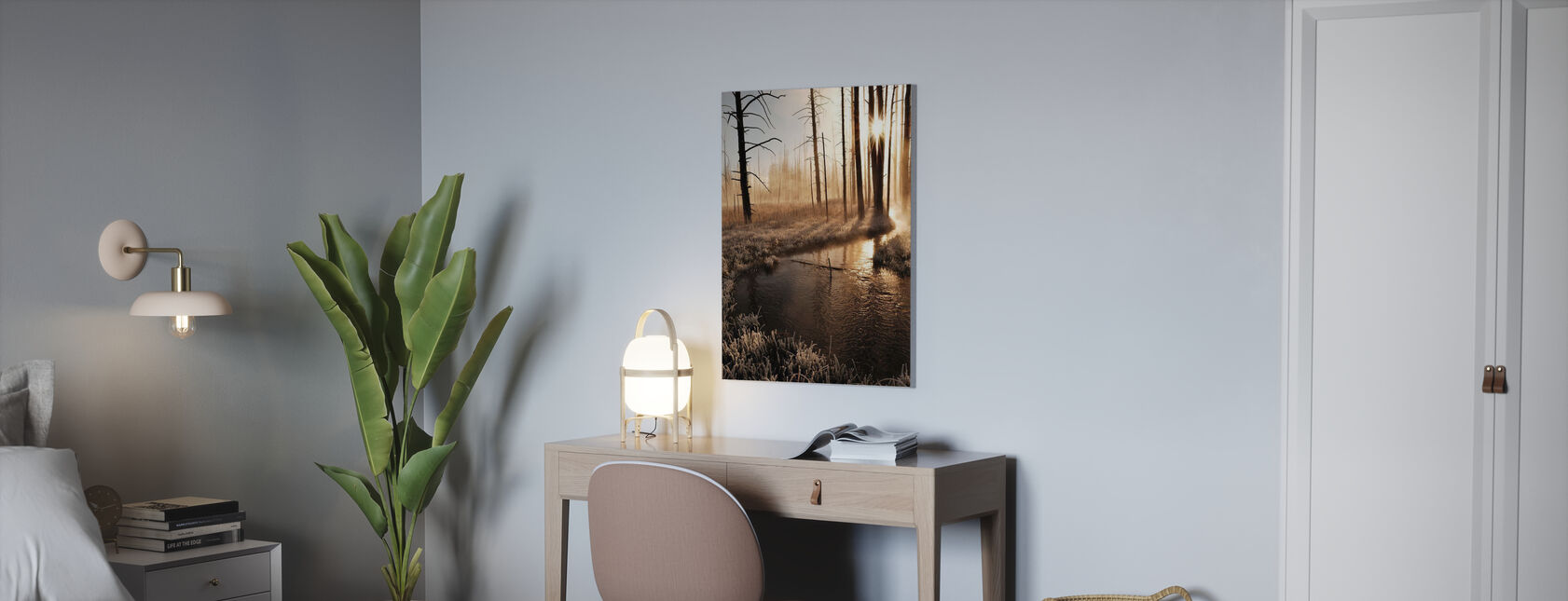 Frosty Yellowstone Morning - Canvas print - Office