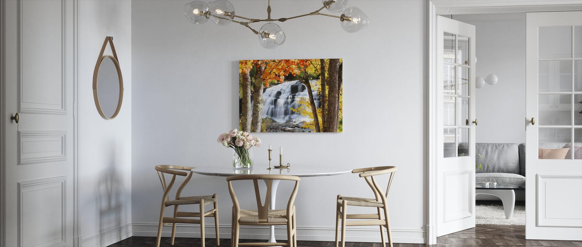 Bond Falls habillé de couleurs d'automne - Impression sur toile - Cuisine