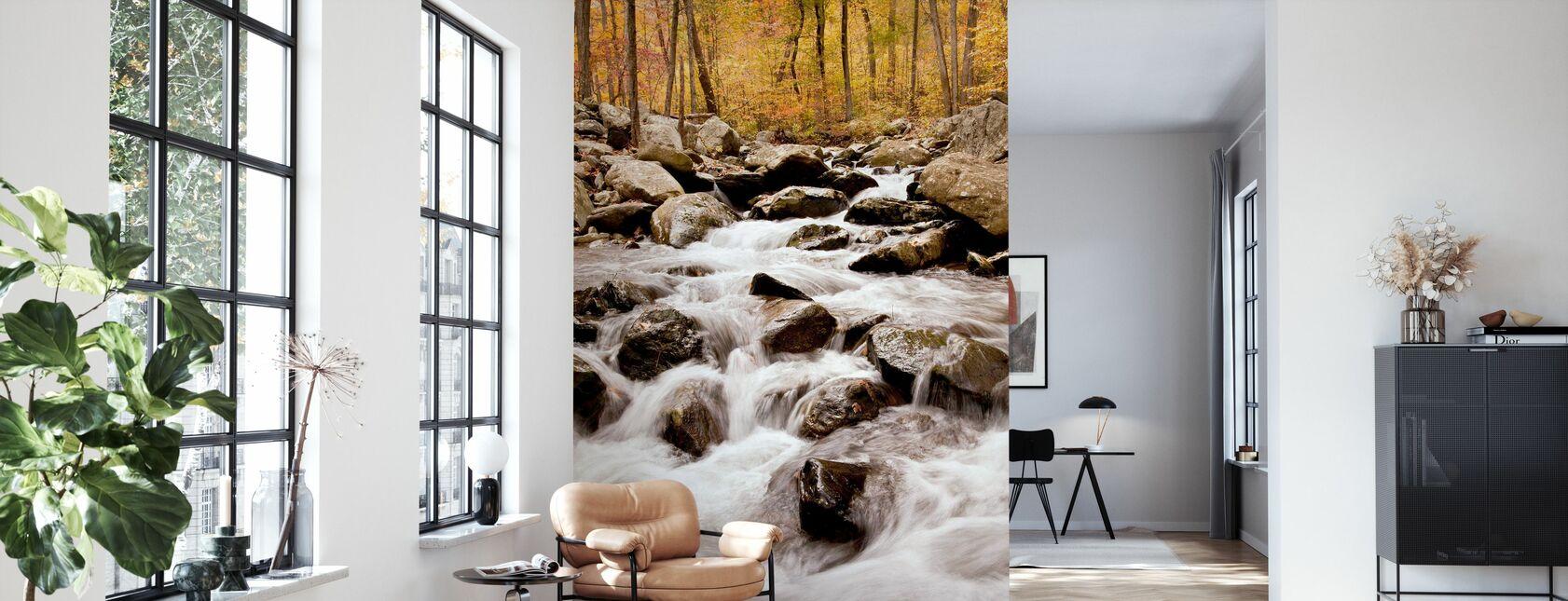 White Oak Canyon Falls - Wallpaper - Living Room