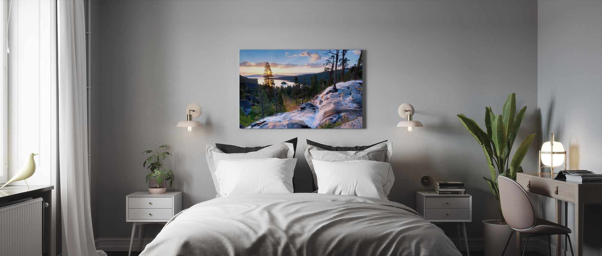 Vacker soluppgång på Eagle Falls - Canvastavla - Sovrum
