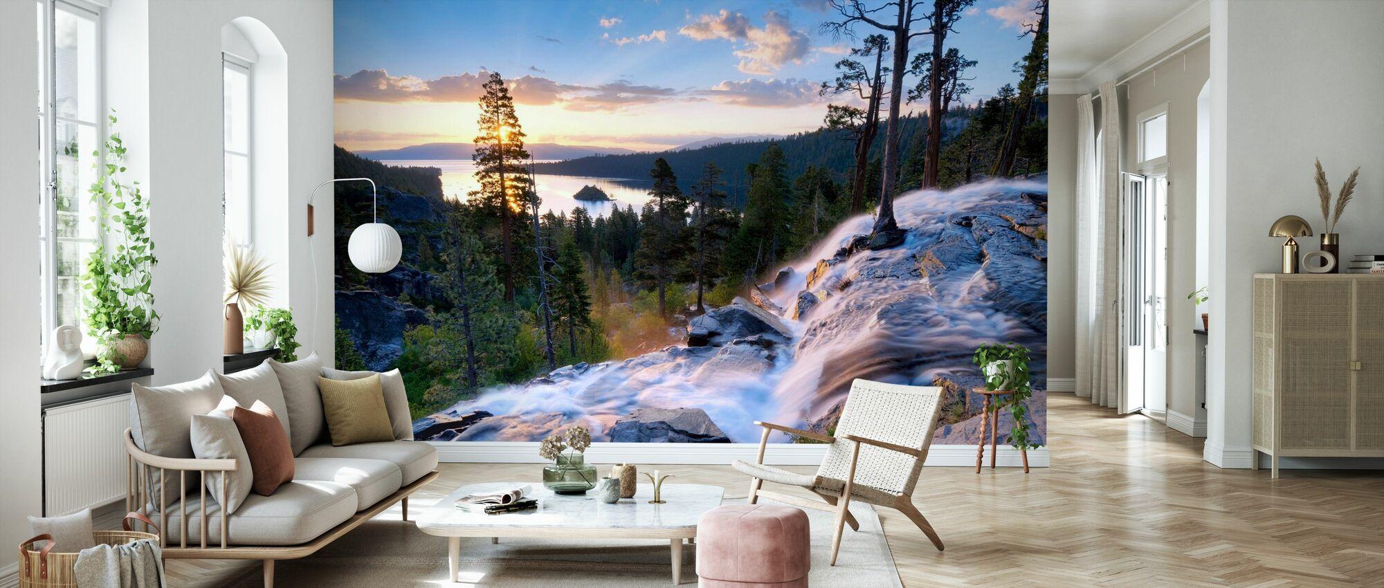 Beautiful Sunrise at Eagle Falls - Wallpaper - Living Room