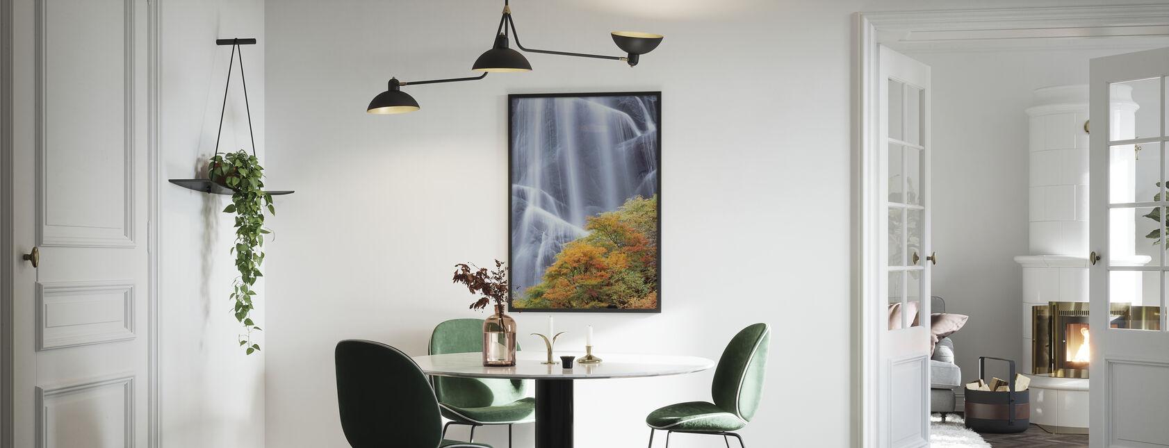 Japanese Waterfall in Autumn Dress - Poster - Kitchen