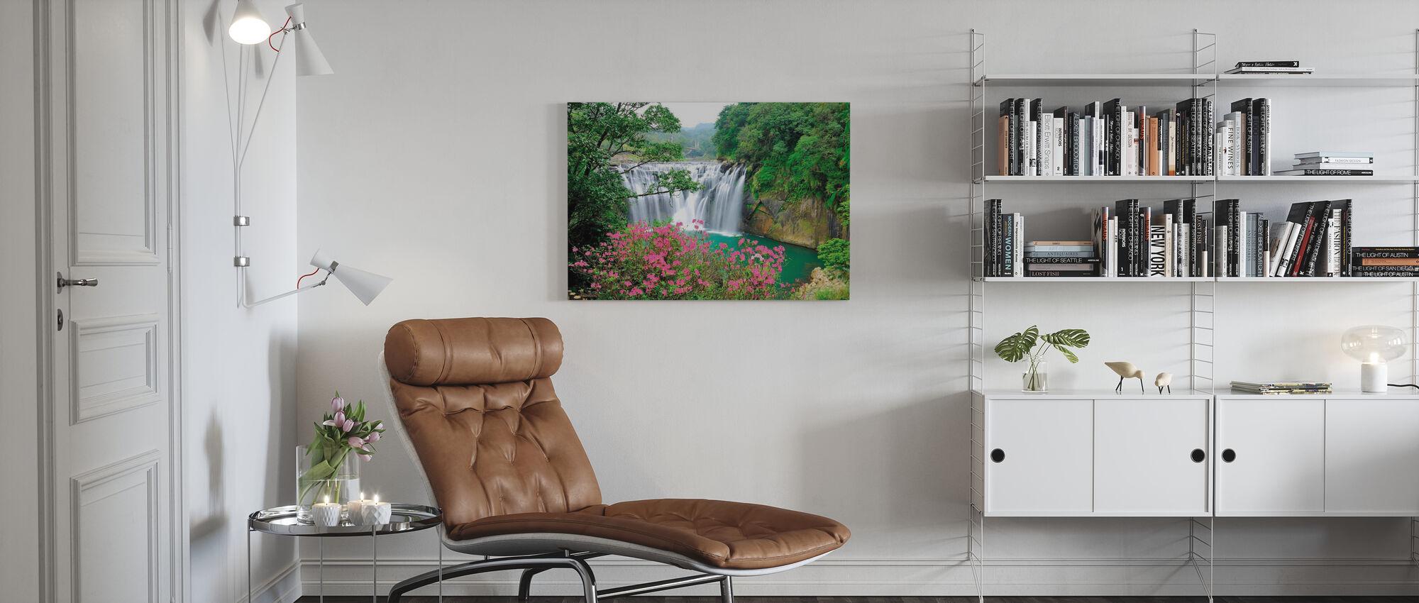 Shifen vattenfall - Canvastavla - Vardagsrum