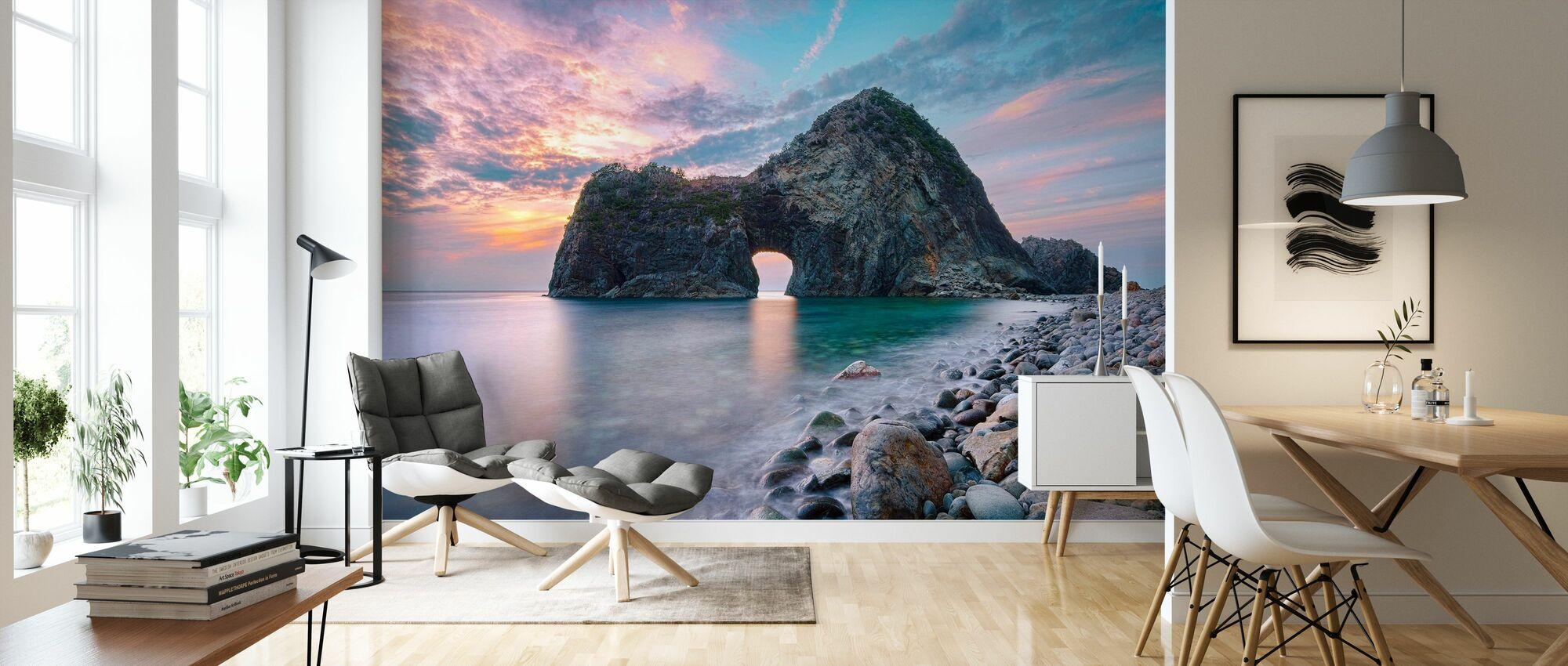 Rock Gate Senganmon - Wallpaper - Living Room