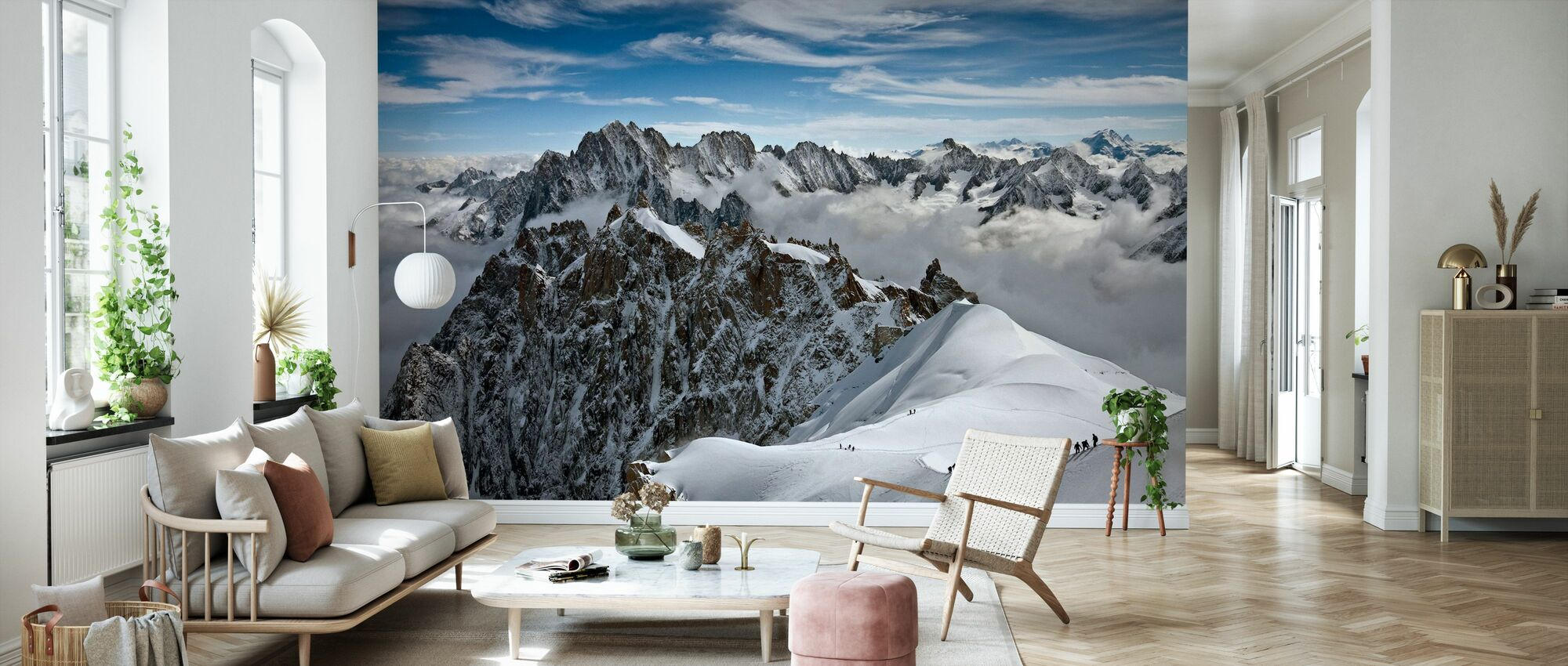 View of overlooking Alps - Wallpaper - Living Room