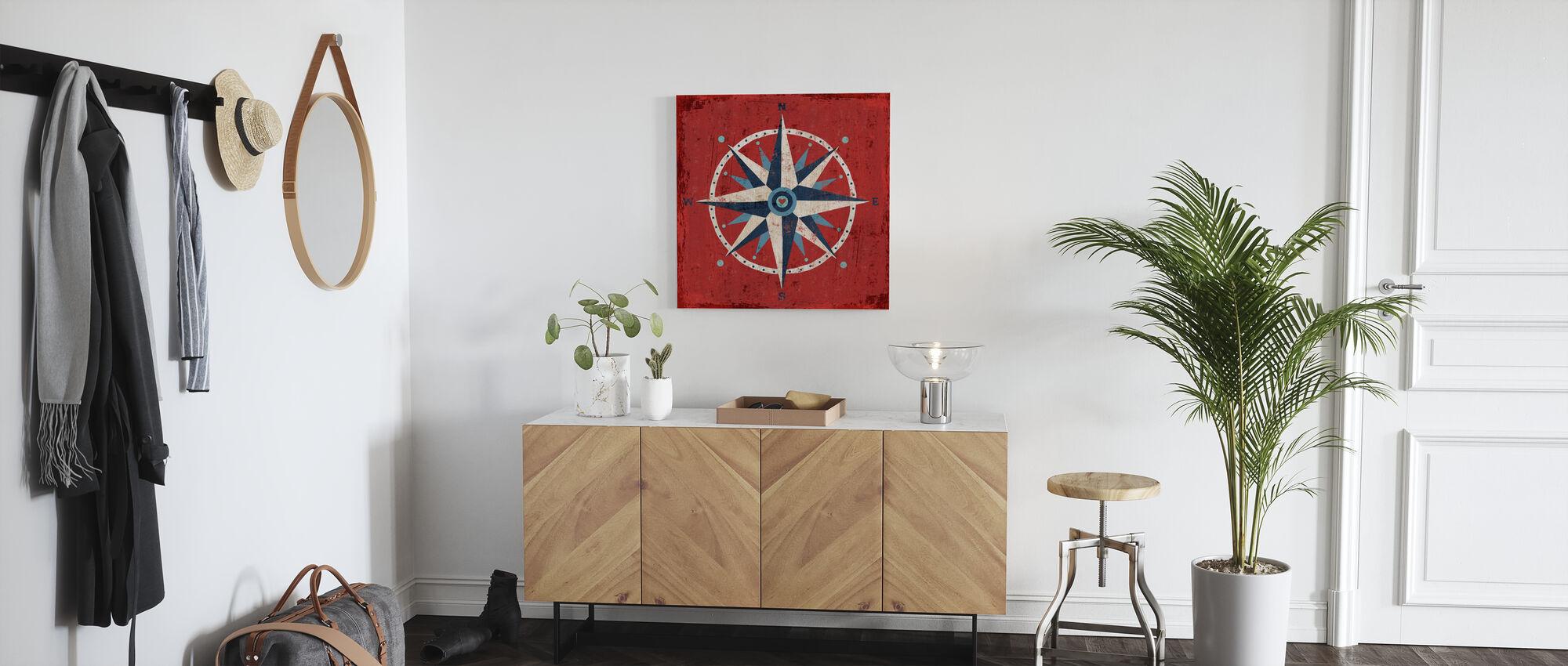 Nautical Love Compass - Canvas print - Hallway