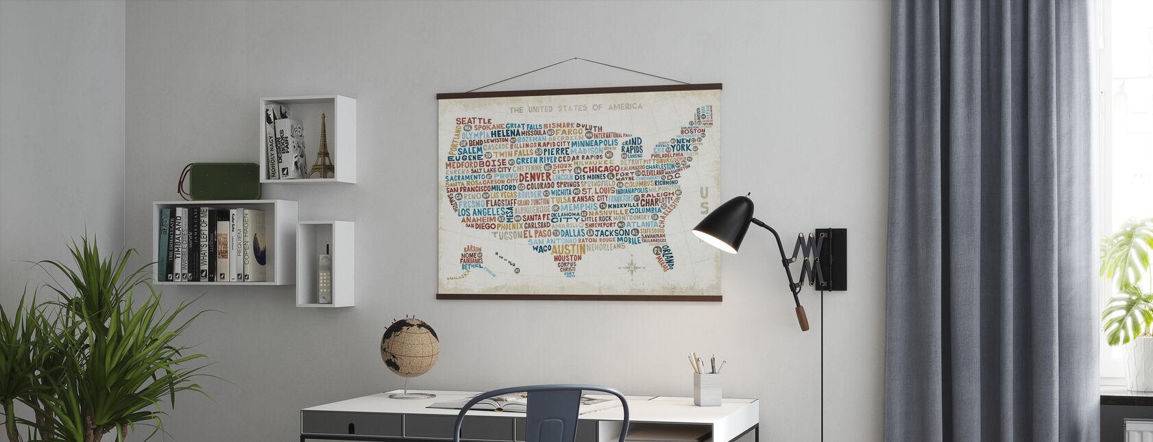 US City Kartta - Juliste - Toimisto