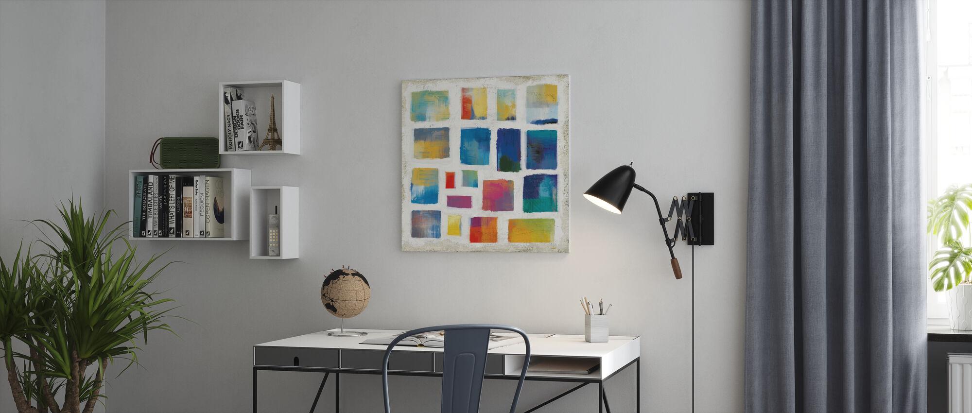 Vibrations-Quadrat - Leinwandbild - Büro