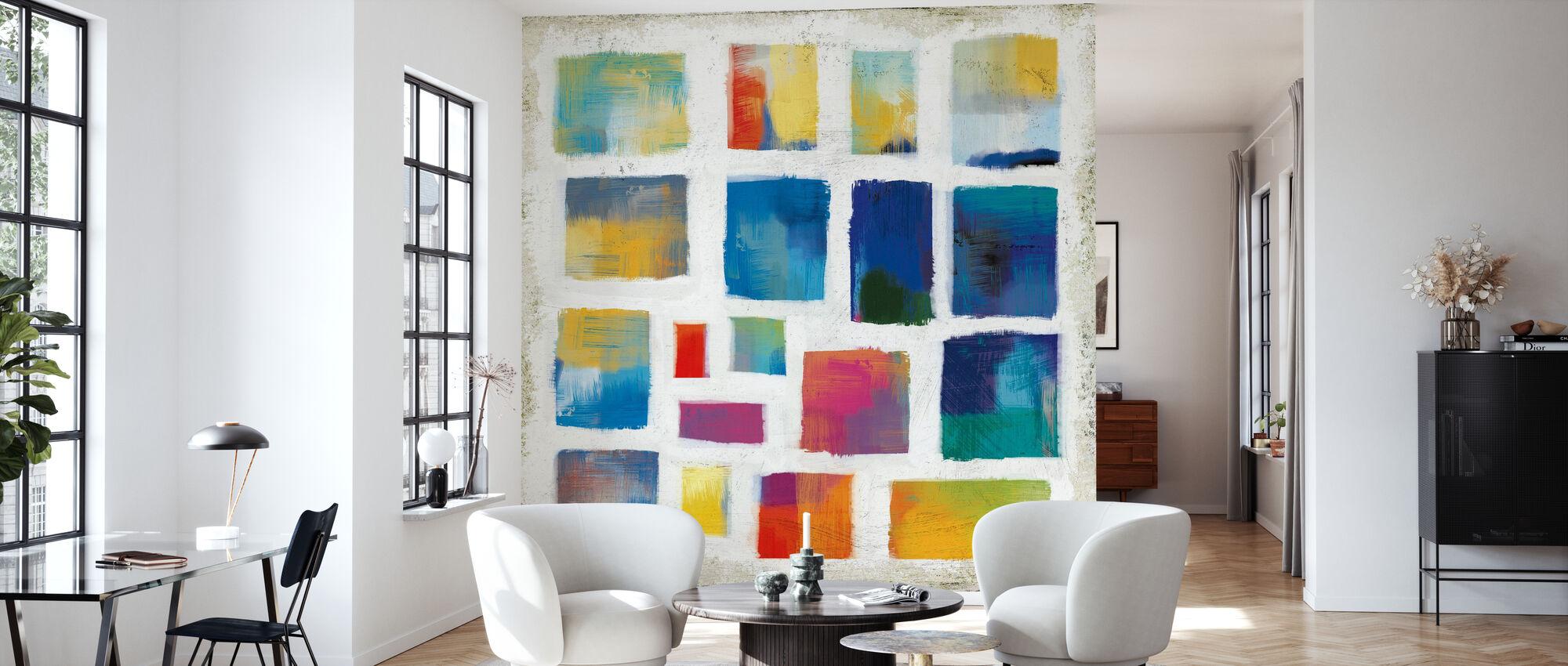 Vibrations Square - Wallpaper - Living Room