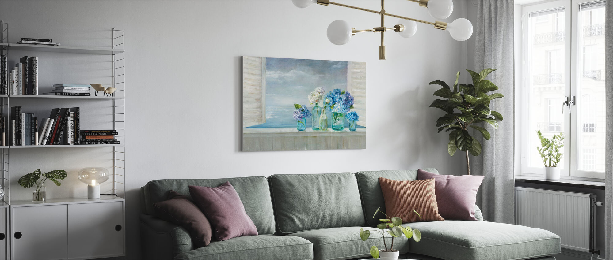A Beautiful Day at the Beach - Canvas print - Living Room