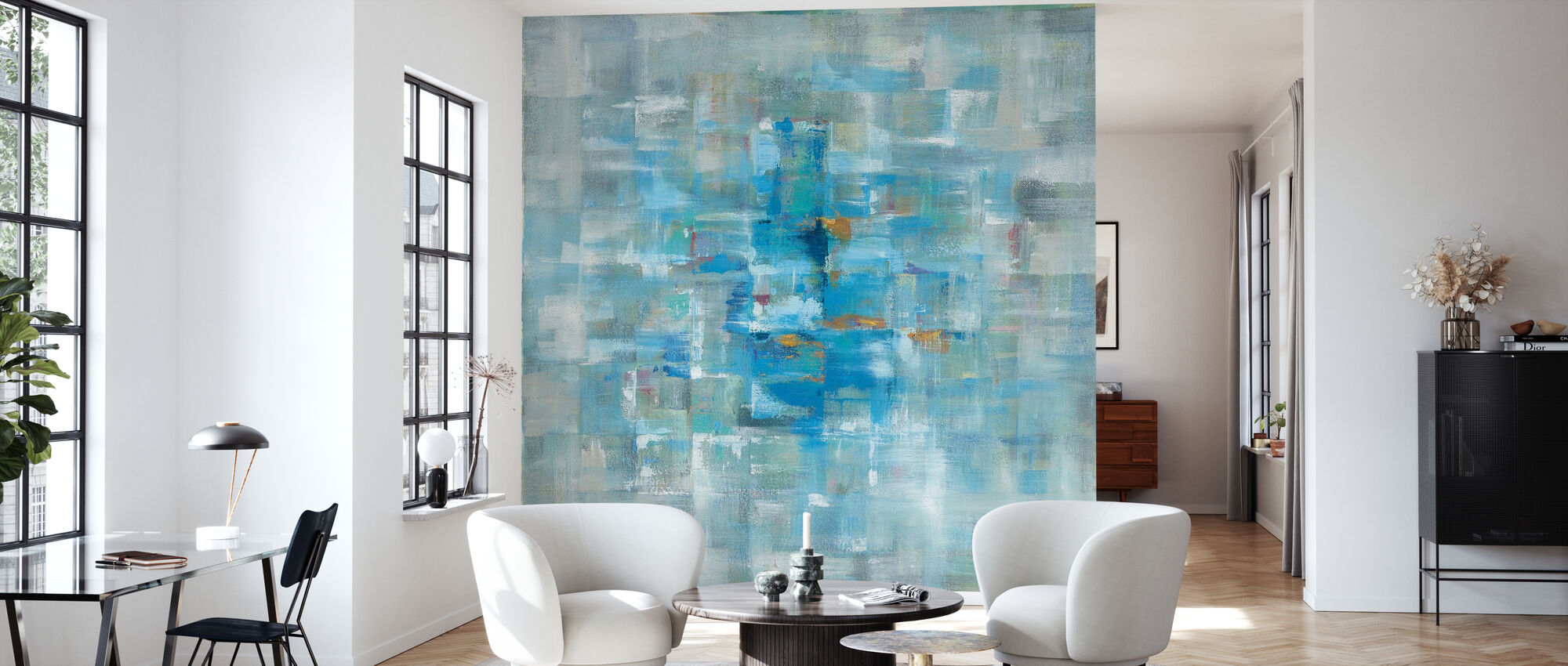 Abstract Squares - Wallpaper - Living Room