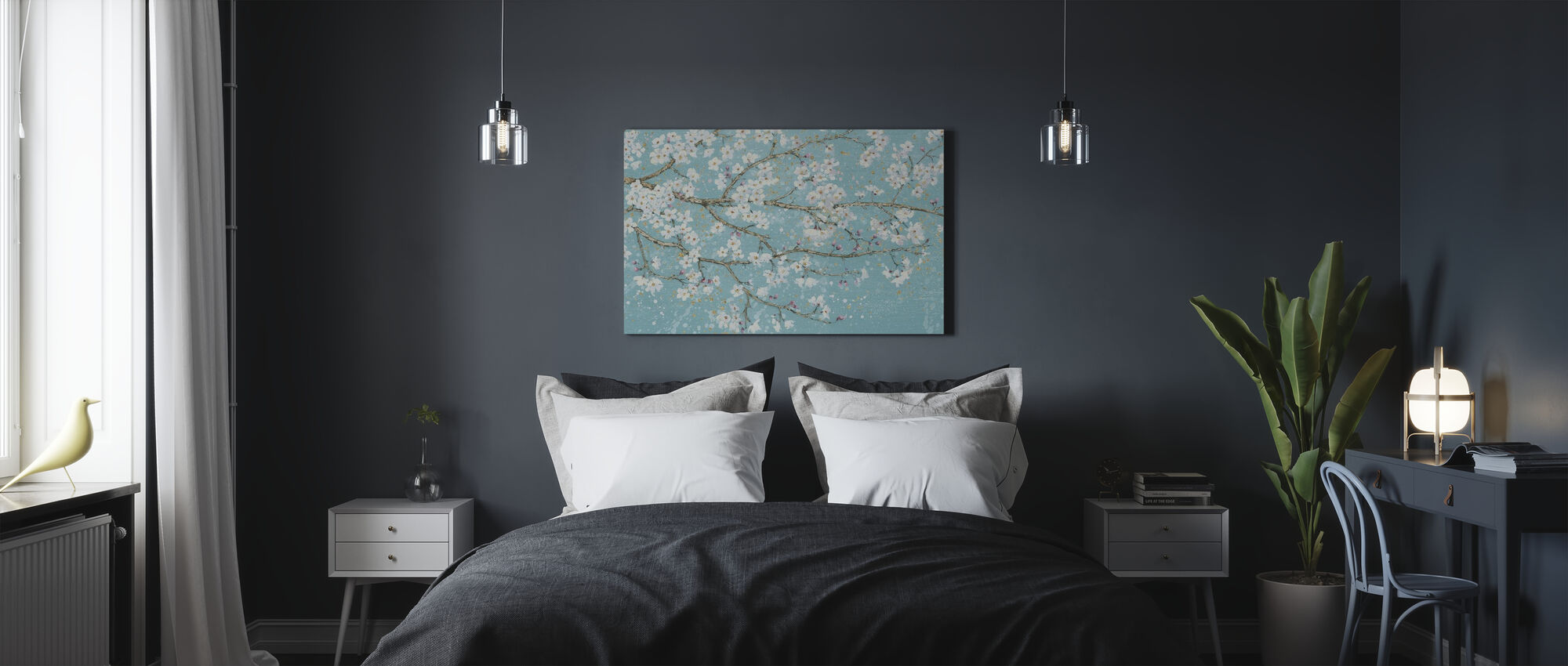 April Breeze I Teal - Canvas print - Slaapkamer