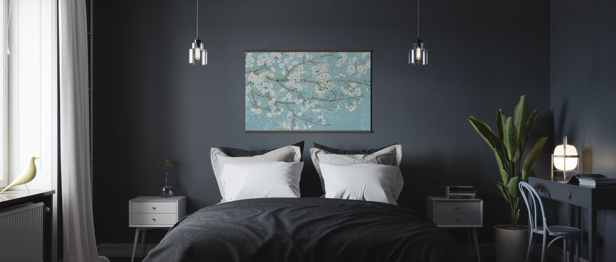 April Breeze I Teal - Poster - Slaapkamer