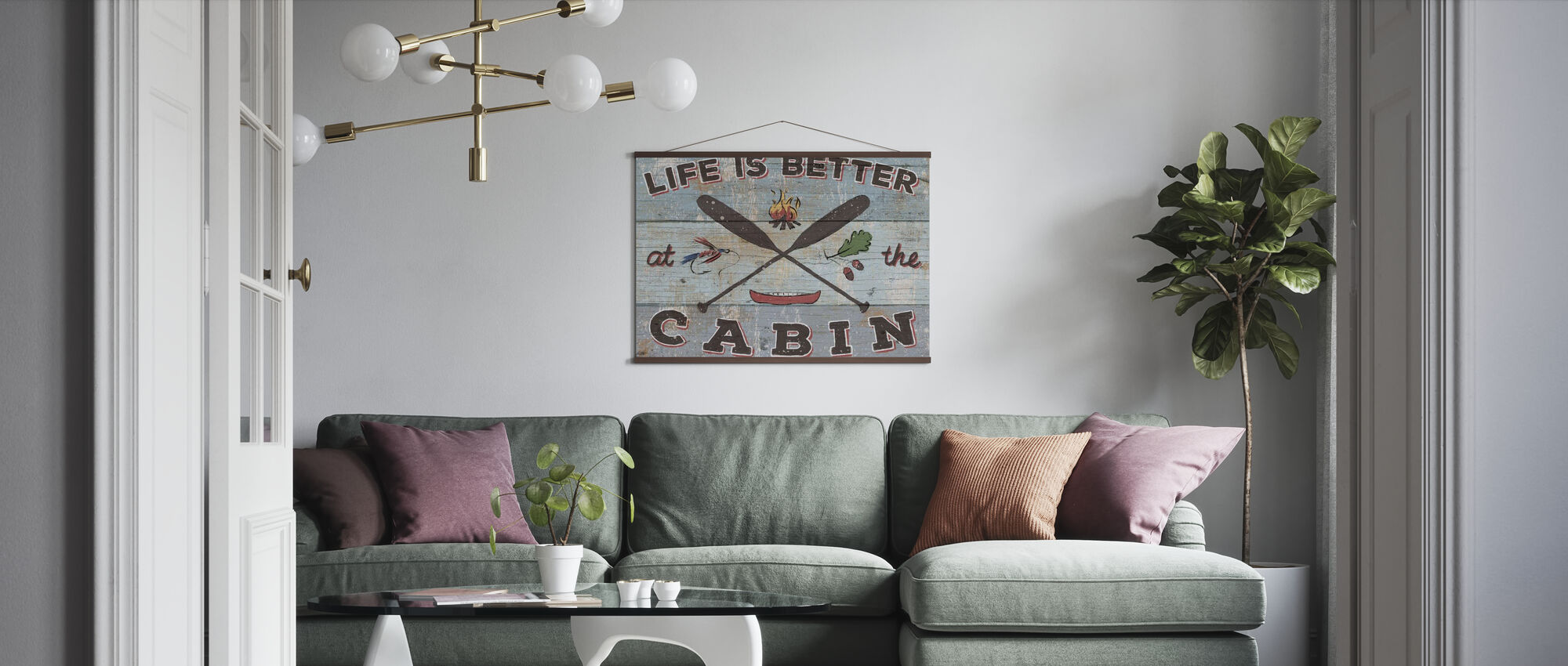 Cabin Fever I - Poster - Living Room