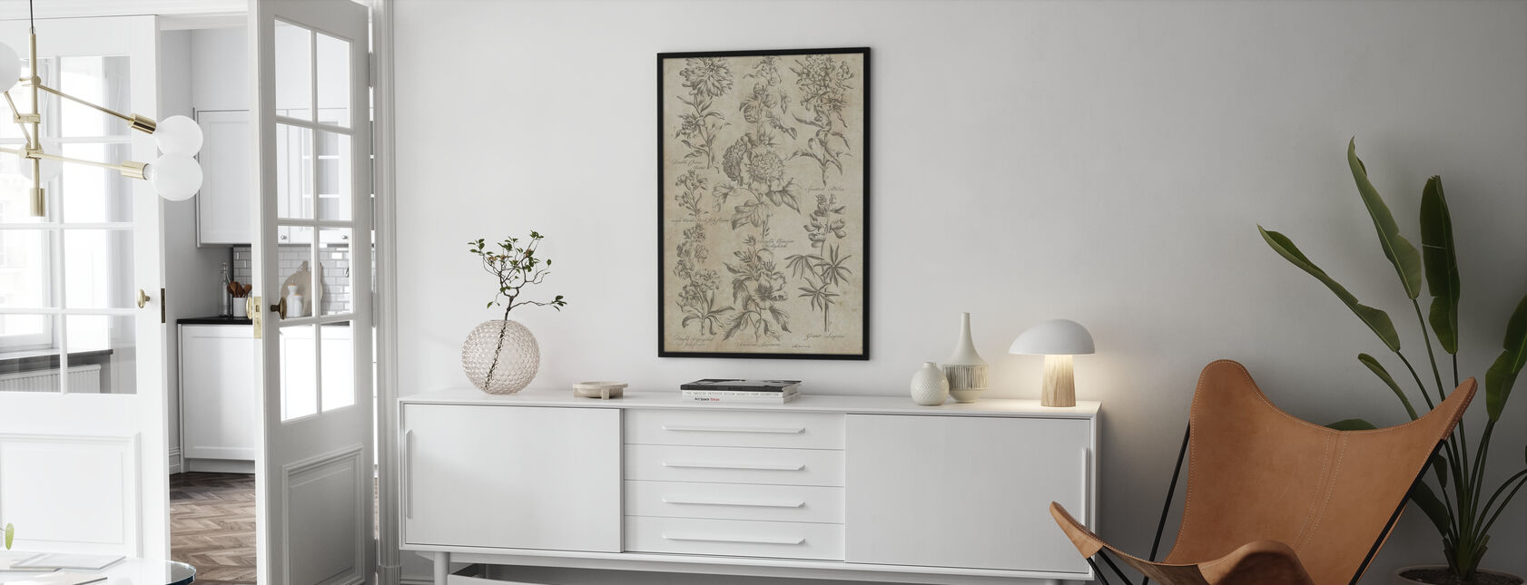 Eden Antique Bookplate - Poster - Living Room