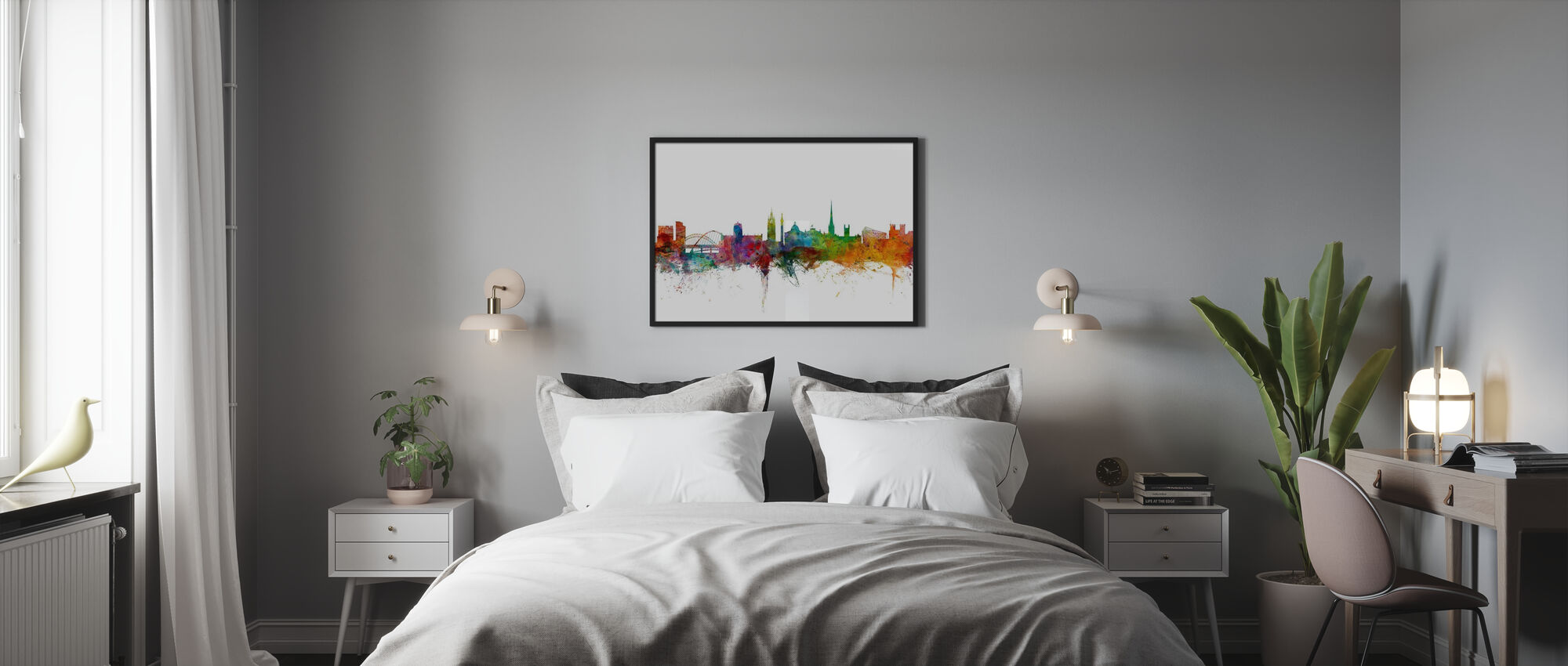 Newcastle England Skyline - Framed print - Bedroom