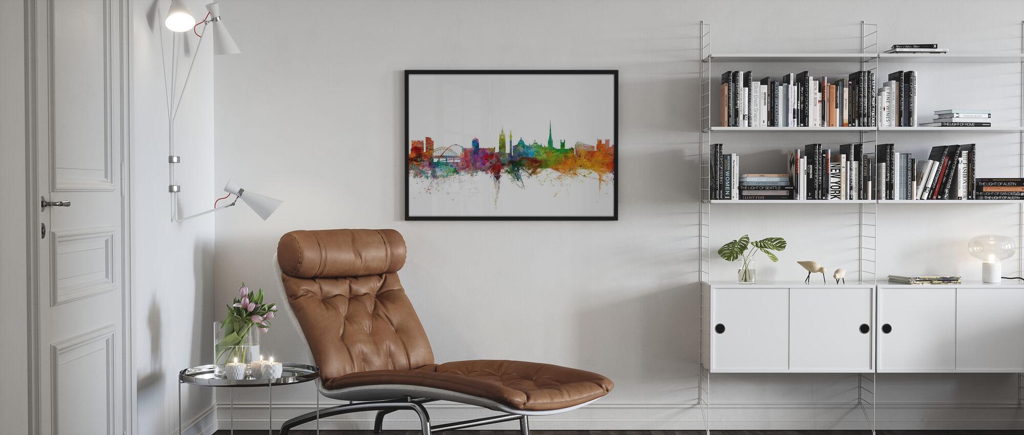 Newcastle England Skyline - Poster - Woonkamer