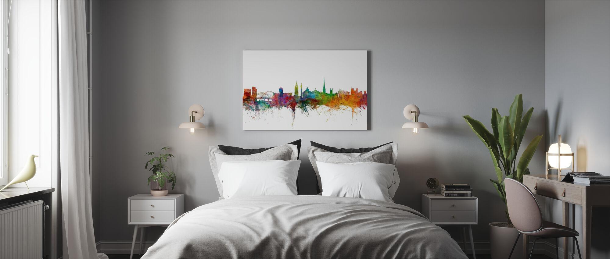 Newcastle England Skyline - Canvas print - Bedroom