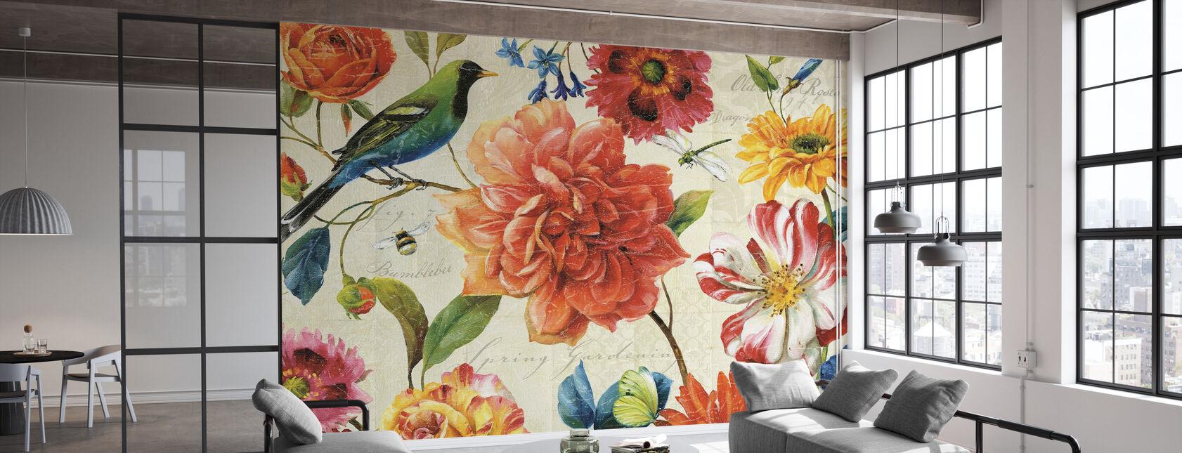Rainbow Garden Cream - Wallpaper - Office