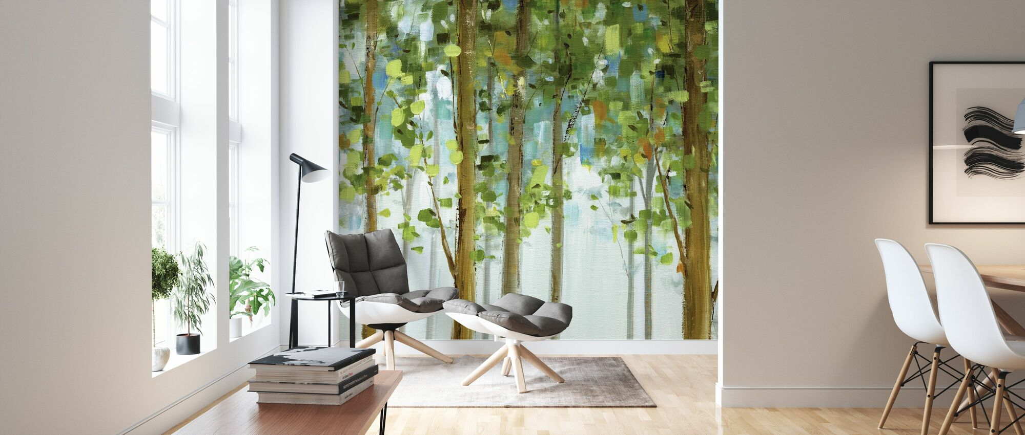 Forest Study - Wallpaper - Living Room