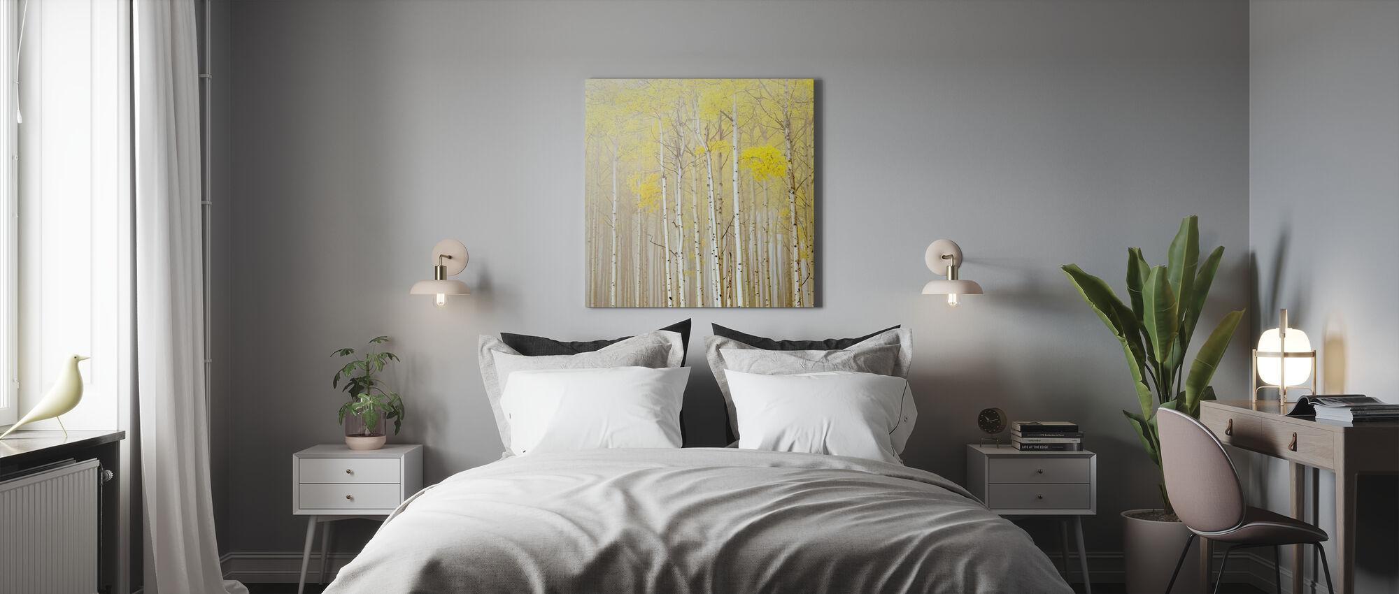 Aspens in Fog - Canvas print - Bedroom