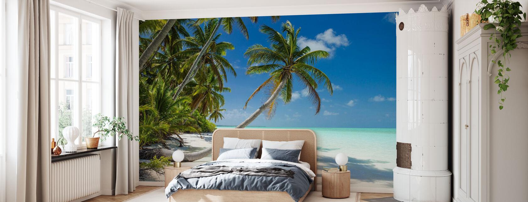 Lagune und Palmen - Tapete - Schlafzimmer