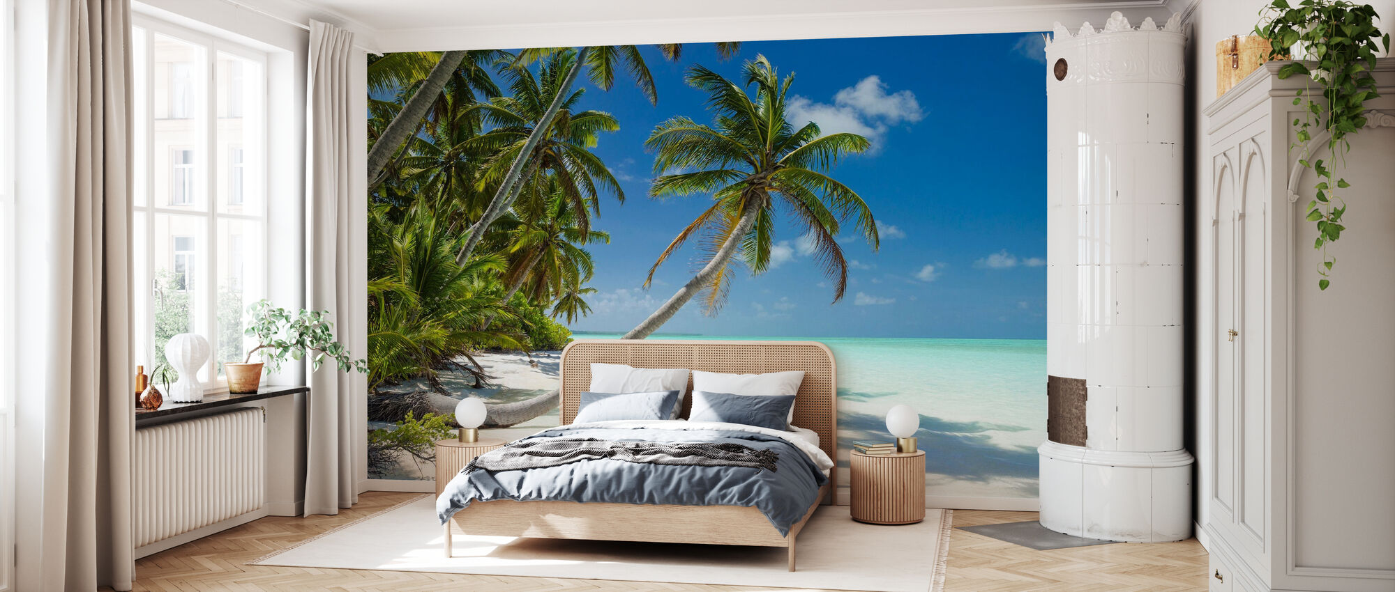 Lagoon and Palm Trees - Wallpaper - Bedroom