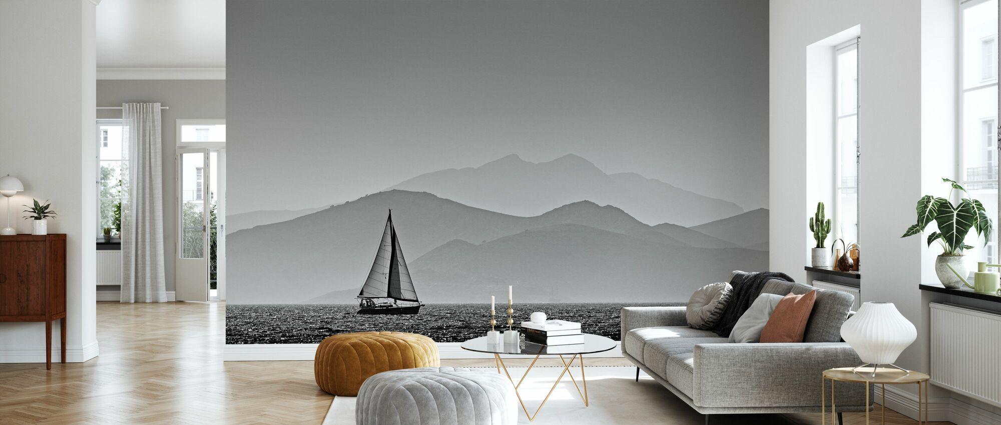 Sailing - Wallpaper - Living Room