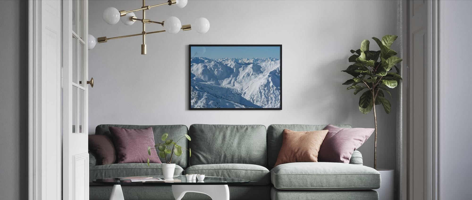 Skipisten im Zillertal - Poster - Wohnzimmer