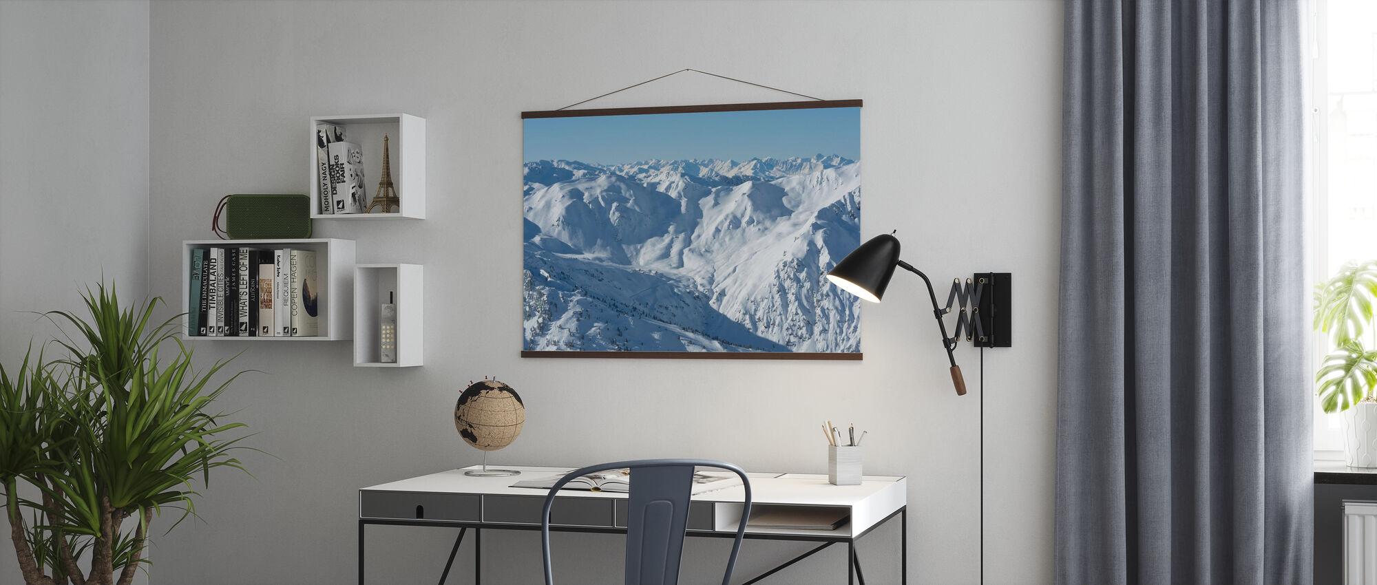 Skipistes van Zillertal - Poster - Kantoor