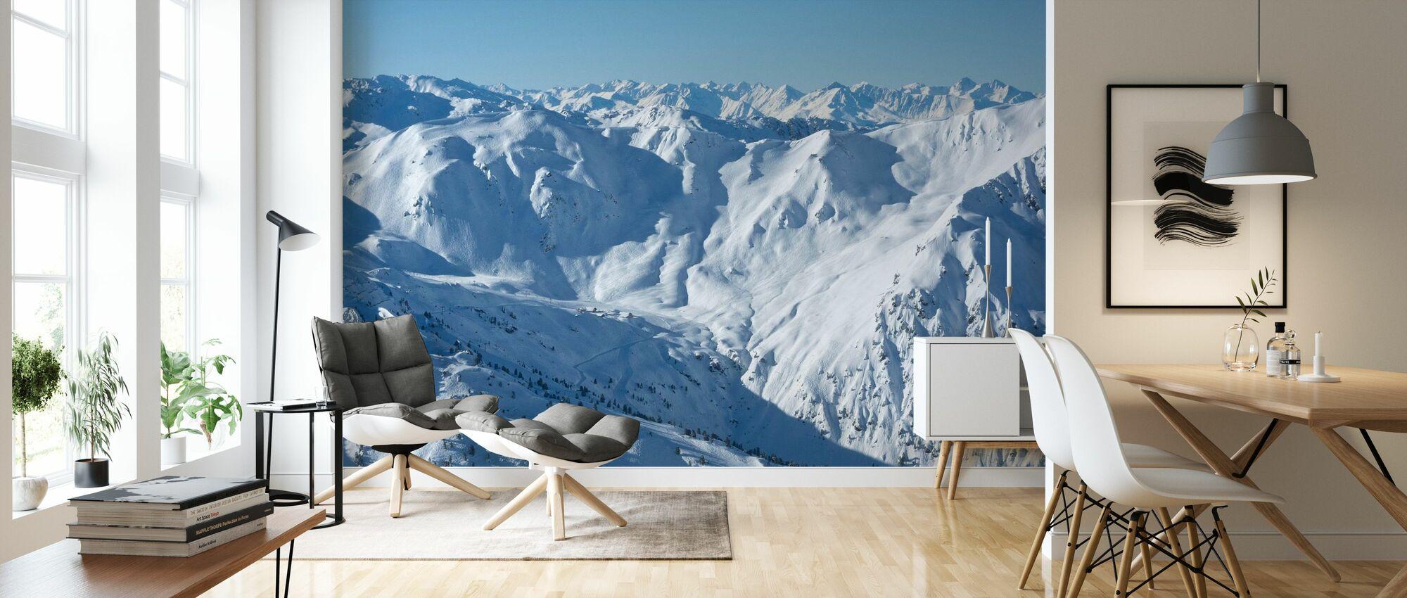 Ski Slopes of Zillertal - Wallpaper - Living Room