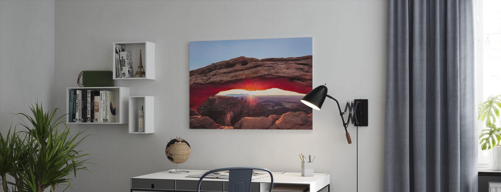 Zonsondergang Crest - Canvas print - Kantoor