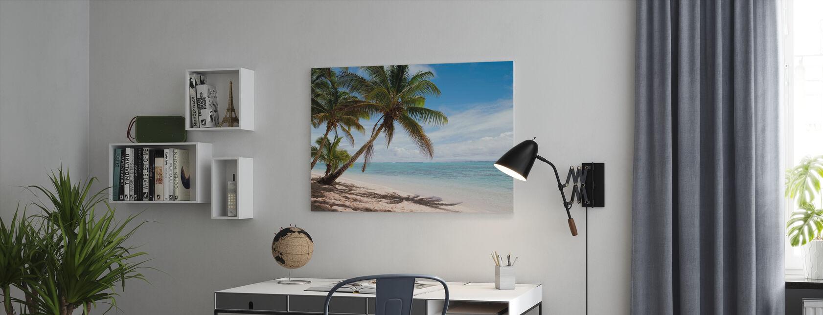 Tropisk strandscene - Lerretsbilde - Kontor
