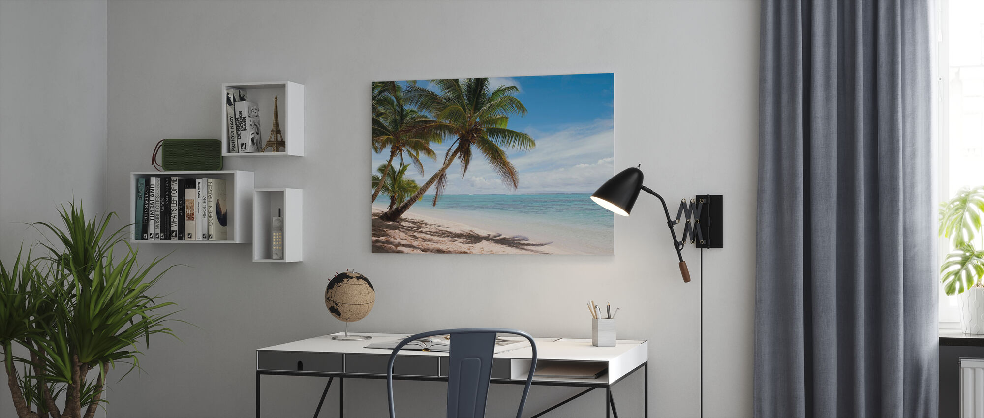 Tropical Beach Scene - Canvas print - Office