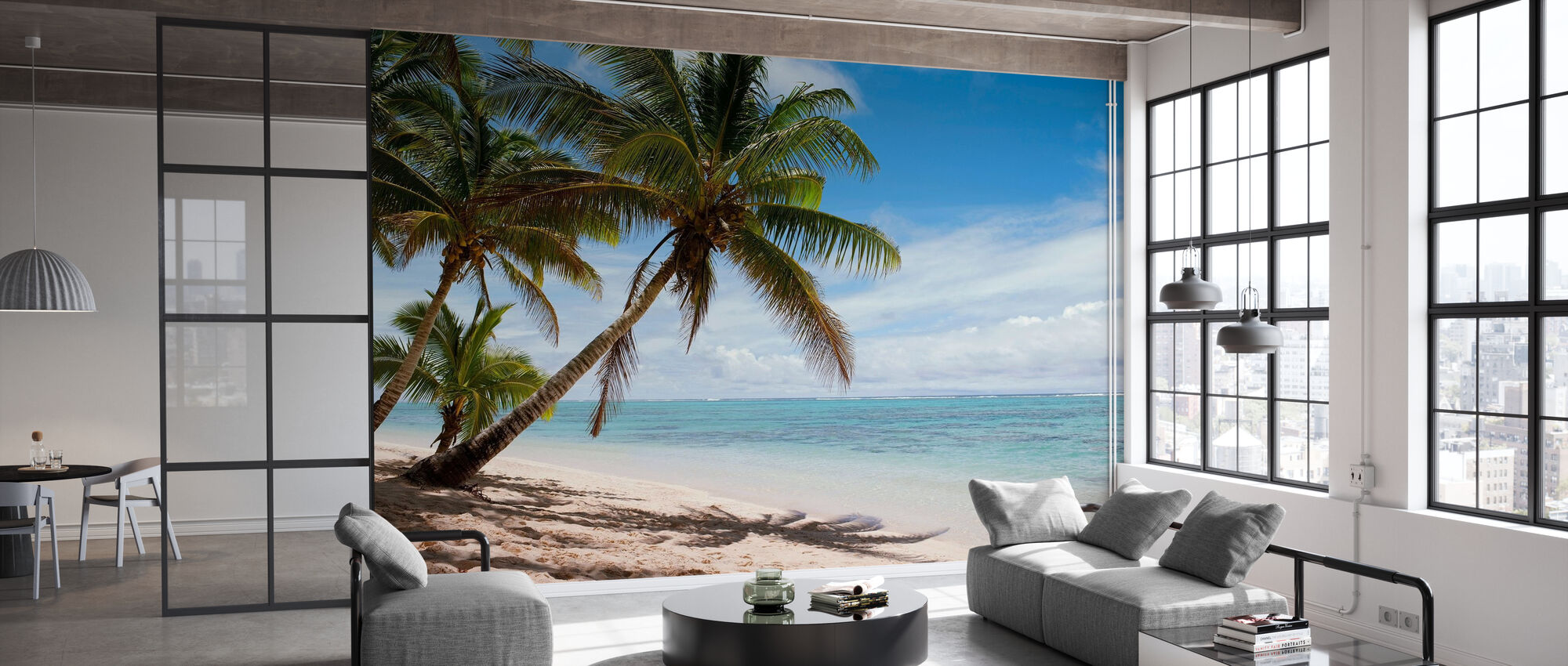 Tropical Beach Scene - Wallpaper - Office