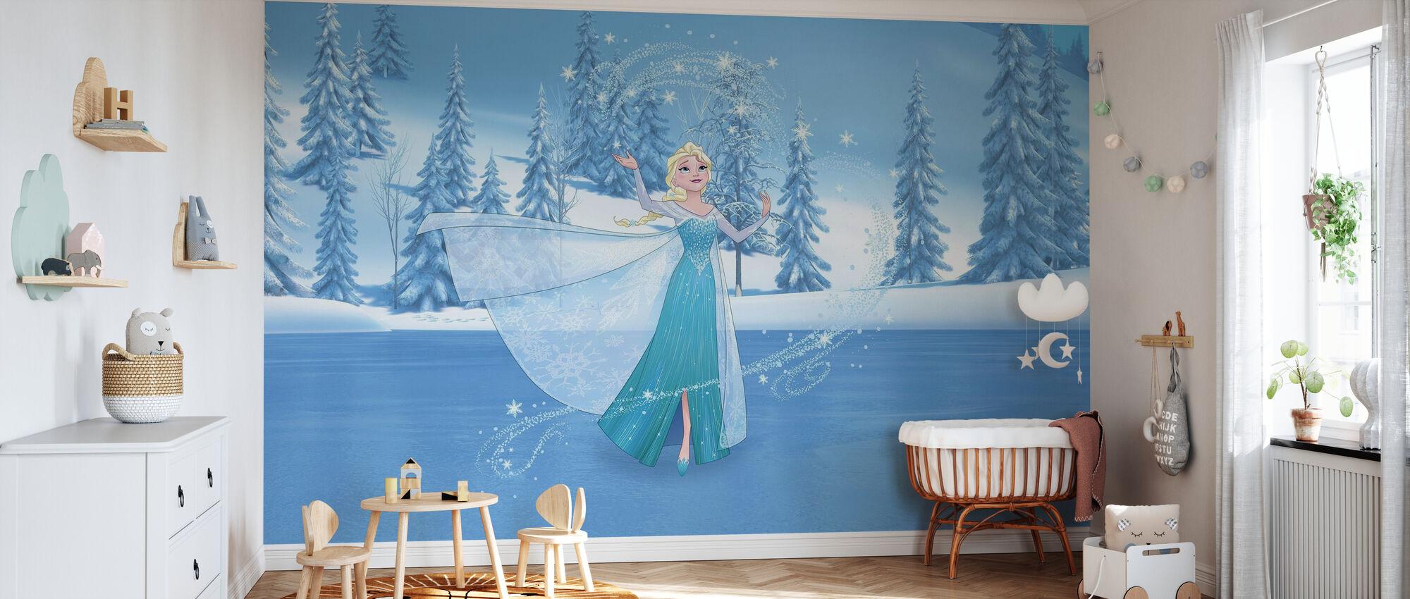Fryst - Elsa och magiska hjärta - Tapet - Babyrum