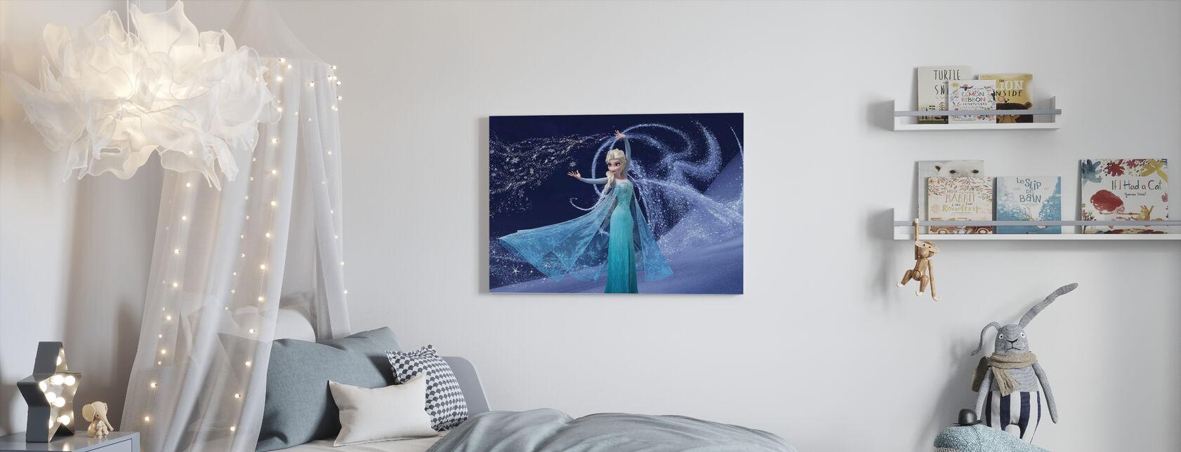 Jäätynyt - Magic Elsa - Canvastaulu - Lastenhuone
