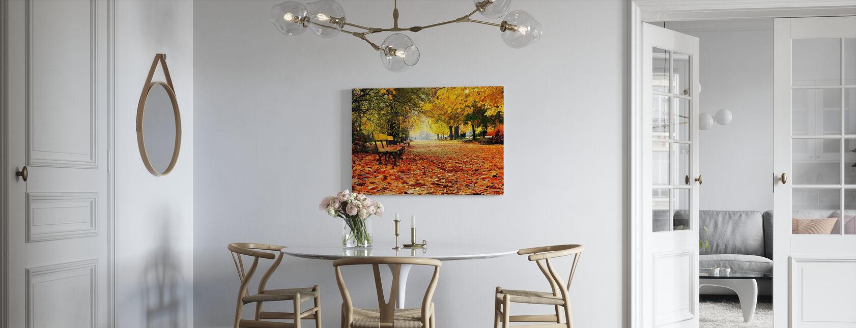 Efterår Park - Billede på lærred - Køkken