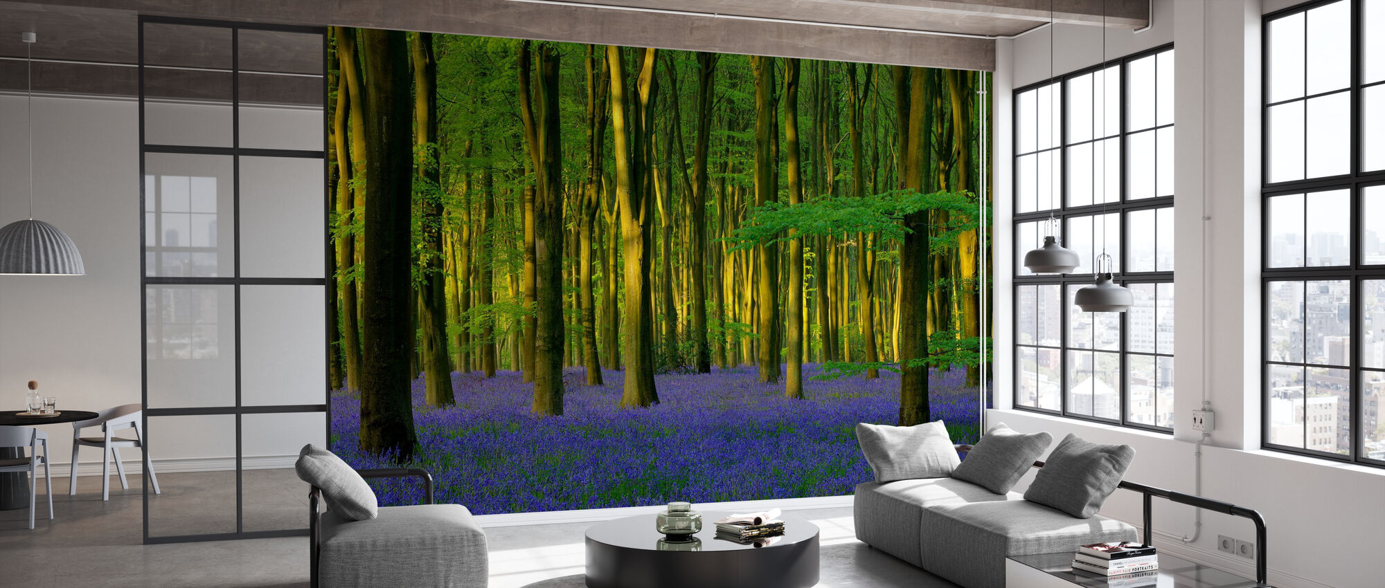Bluebells in Sunlight - Wallpaper - Office