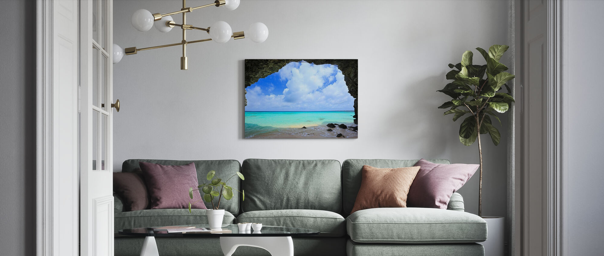 Crystal Clear - Canvas print - Living Room