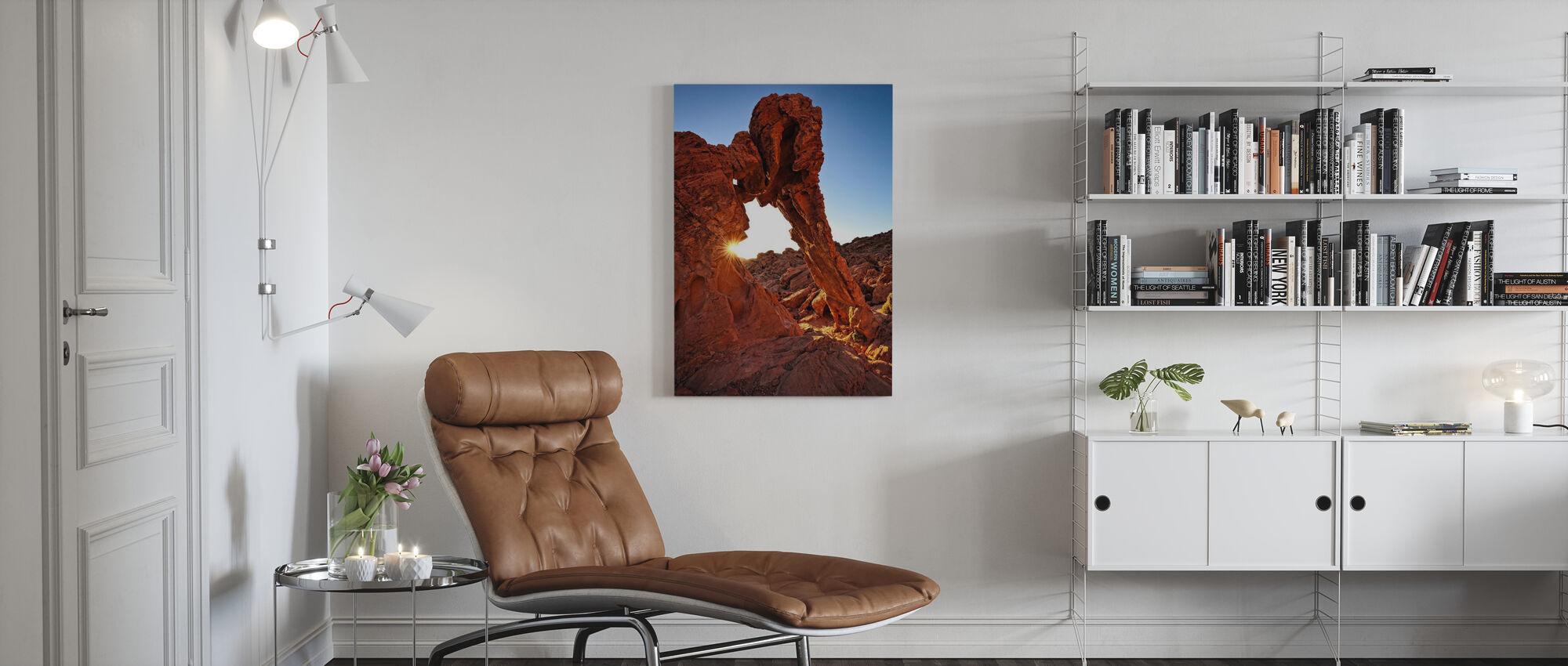 Olifant Rock in de Vuurvallei - Canvas print - Woonkamer