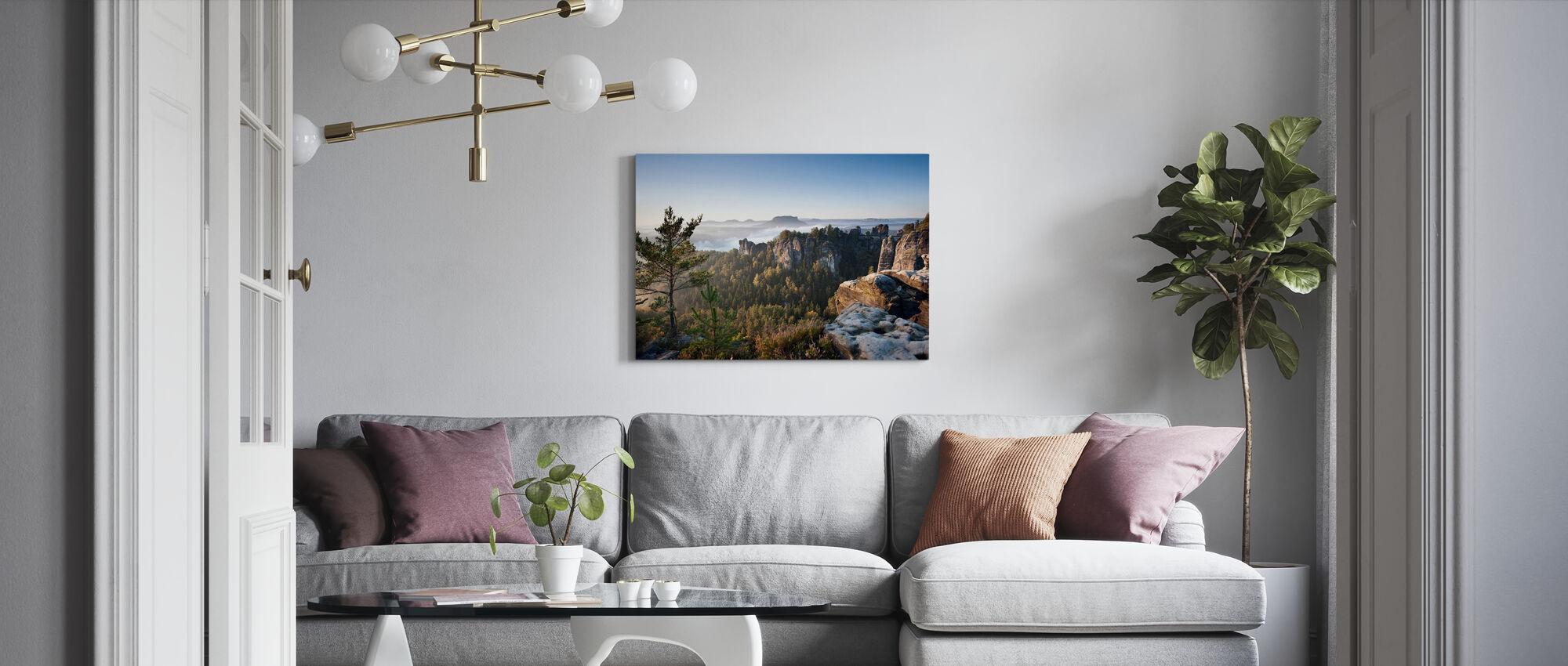 Ochtend in de Bastei - Canvas print - Woonkamer