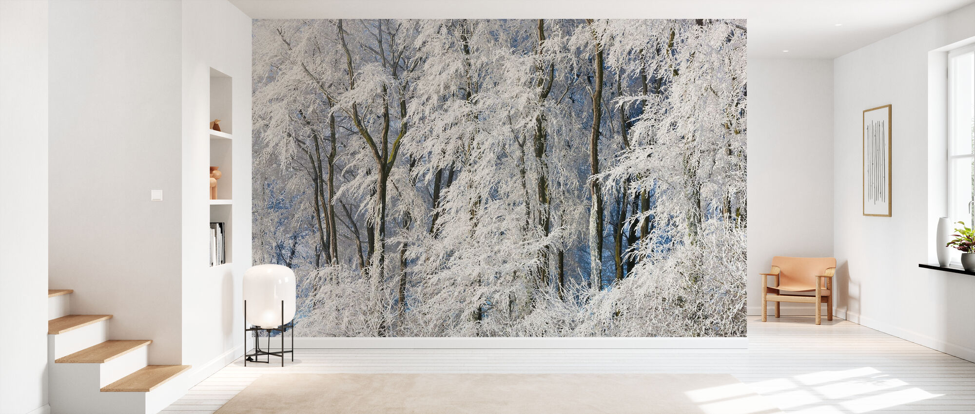 Snow Covered Trees in Gloucestershire - Wallpaper - Hallway